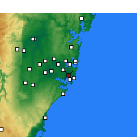 Nearby Forecast Locations - Sydney - Map
